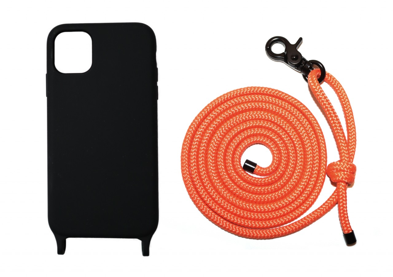 Lei Case Black Case X Neon Orange Premium