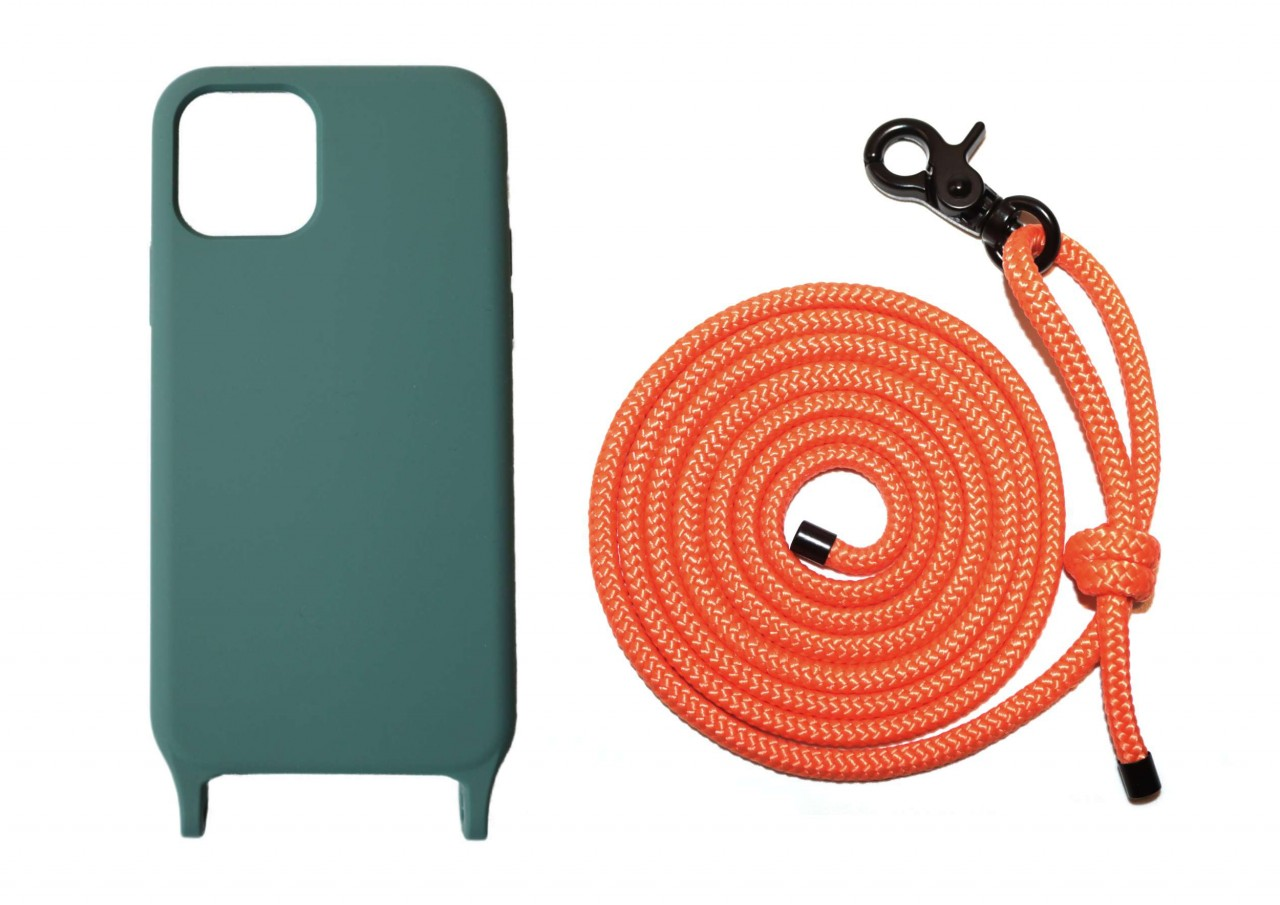 Lei Case Sage Green Case X Neon Orange Premium