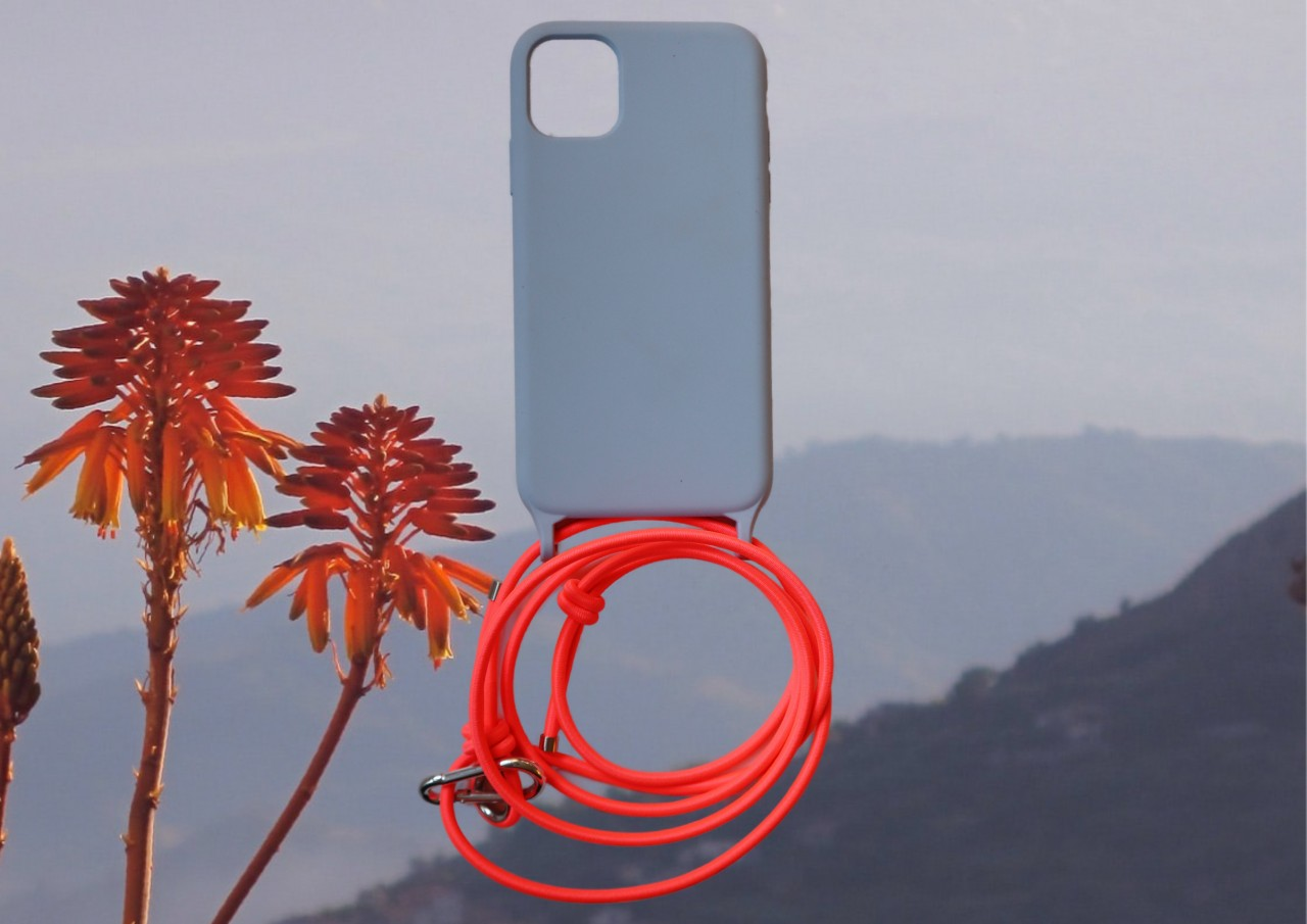 Lei Case Light Blue Case X Bright Coral Flexible
